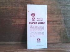 1965 Santa Fe Super Chief Passenger Booklet