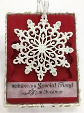 Swarovski® Crystal Keepsake Decoration Merry Christmas Special Friend Ornament