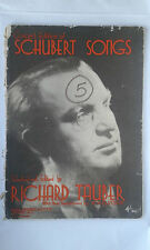 1936 CONCERT EDITION OF SCHUBERT SONGS BY RICHARD TAUBER
