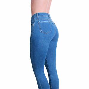 Damen Skinny Jeans Hose High Waist Destroyed Slim Fit Stretch Röhrenhose Fransen