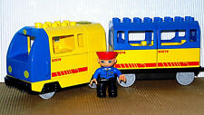 Lego Duplo Eisenbahn E-Lok Zug Train Lok mit Tankgeräusch und Personen Anhänger