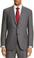 $1200 Canali Modern Fit IMPECCABLE Suit Jacket 40R Grey Check Firenze ITALY