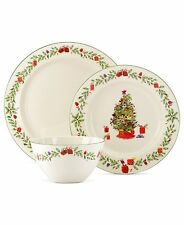 Lenox Holiday Inspirations & Illustrations 3 Pc. Place Setting Christmas Set NEW