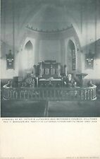 A View Of The Chancel, St Peter's Lutheran & Reformed Church, Hilltown, Pa 1907