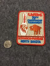 Vintage Wibc Bismarck-Mandan North Dakota 1989 Tournament Bowling Patch Mint