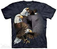UNISEX T-SHIRT FIND 10 EAGLES STONEWASHED MULTICOLORED GRAPHIC TEE SIZE 2XL