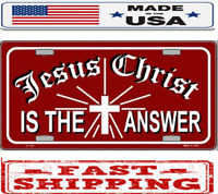 HONK IF YOU LOVE JESUS RELIGIOUS CHRIST Metal License Plate Frame Two Holes