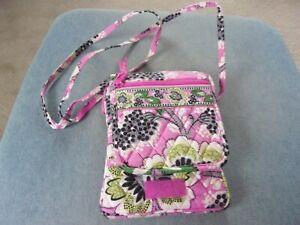 Vera Bradley Priscilla Pink Floral crossbody mini hipster bag purse
