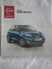 Nissan Micra range brochure Aug 2014 UK market
