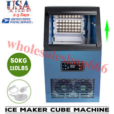 Wonderful Auto Commercial Ice Maker Cube Machine Steel Bar 110Lbs 230W 110V Ce