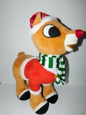 """New with tag Stand Alone Large Rudolph Holiday Door Greeter Plush 21"""" Gemmy"""