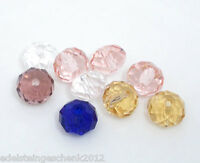GS: 100 Kristall Glasperlen Böhmische Schliffperlen Facettiert Beads 6mm