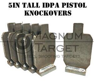 5in IDPA Knockover Shooting Targets - 3/8in Steel Targets - 6pc Metal Target Set