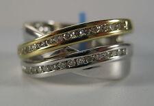 14K Yellow & White (Multi Tone) Gold 30-Point Diamond Band Ring -- 6.9 Grams!