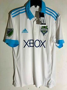 ADIDAS MLS JERSEY SEATTLE SOUNDERS TEAM WHITE MEN'S SIZE SMALL