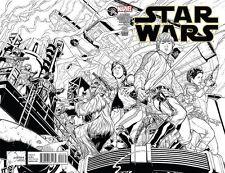 STAR WARS ISSUE 1 - MARVEL COMICS - RARE JOE QUESADA 1:500 SKETCH VARIANT