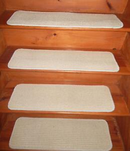 13= Step 9'' x 30'' + 1 Landing 30'' x 32''  Woven Wool Jute carpet Stair Treads