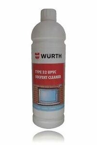 Genuine Wurth PVC Solvent Cleaner 1 Litre Bottle Type 32 UPVC Window Door Frame