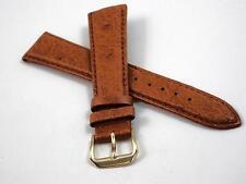 "Honey Genuine Ostrich Kreisler Vintage Watch Band 19mm 3/4"" Mens New Old Stock"
