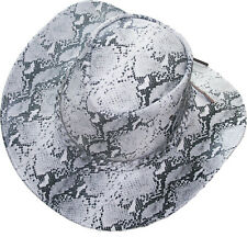 Snake Skin Print Leather Western Cowboy Hat