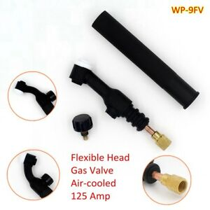 WP-9FV TIG Welding Torch Body Flexible Head with Gas Valve Air-cooled 125 Amp