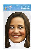 Pippa Middleton Matthews Face Party Mask Card A4 Fancy Dress Ladies Kids Mens