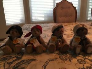Charlie Bears Water Babies Minimo set all #7 Dubloon, Barnacle, Cordelia, Kendra