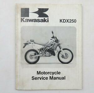 Kawasaki KDX250 Factory Motorcycle Service Manual Repair Book 1991