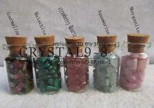 Gemstone 5 Bottles Mixed Crystal Tumbled Gem Stones