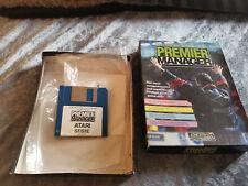 Atari ST Premier Manager Football 1992 Vintage Video Game Rare Boxed