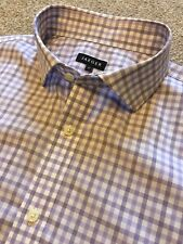 GORGEOUS JAEGER LILAC / PURPLE GINGHAM BUTTON CUFF CLASSIC FIT SHIRT 17