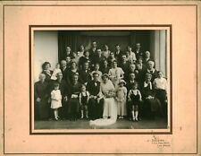 Photo ancienne mariage Manceau année 1940 Photographe J. Saunier le Mans