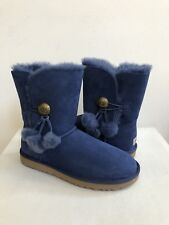 UGG BAILEY BUTTON PUFF DARK DENIM WOMEN BOOT USA 11 / EU 42 / UK 9.5 - NIB