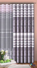 "PENCIL PLEAT TAPE TOP READY MADE CURTAINS Grey White Modern 70"" wide x 100"" drop"