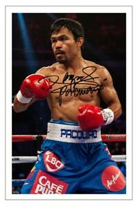 MANNY PACQUAIO Signed Autograph PHOTO Fan Gift Signature Print BOXING Boxer