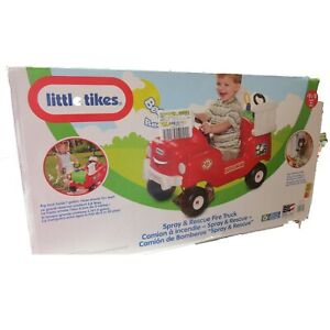 NEW in Box Little Tikes Spray & Rescue Fire Truck Foot to Floor Ride On