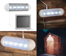 5 LED Solar Powered Shed Light Garden Patio Lights Garage Lamp Rechargeable New