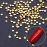 3D Nail Rivet Studs Silver Flat Bottom Beads Multi Size Nagel Kunst Dekorationen
