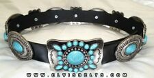 The Original Elvis Style Turquoise and Silver Navajo Western Concho Belt