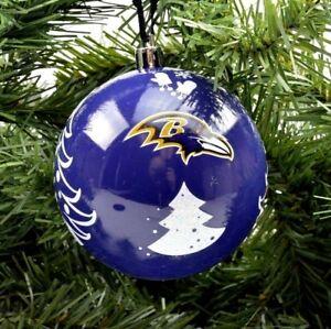 "Baltimore Ravens NFL Football 3"" Plastic Christmas Holiday Ornament"