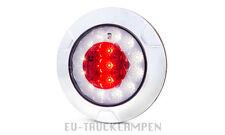 LED NEBELSCHLUSSLEUCHTE + RÜCKFAHRLICHT 12/24V RUND d=152mm  SCHMALE 34mm #1092
