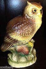 Porcelain Bisque Owl Figurine Japan