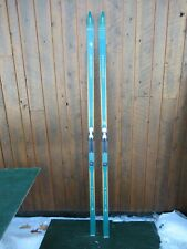 """OLD HICKORY Wooden 81"""" Skis with Original  Color Finish + Bindings"""