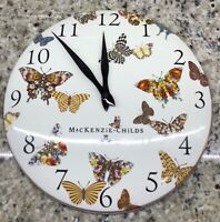 MacKenzie-Childs Butterfly Garden Enamel Walk Clock - HTF