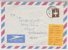DDR, Mi. 2868 EF, Lp.Rostock-Tokyo, AKS + retour-Zettel, 8.5.84