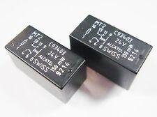 2 x Relais 24V 2xUM 220V 2A AXICOM ALCATEL SWISS MT2 C93403 #13R85