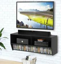 Wood Floating LED TV Stand Wall Mount Entertainment Center Cabinet Living Room