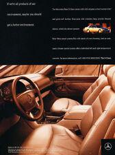 1997 Mercedes Benz S320 -   Vintage Car Advertisement Ad J53