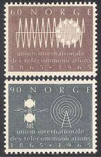 Norway 1965 ITU-UIT/Radio/Telecomms/TV 2v set (n27180)