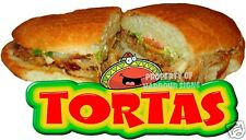 "TORTAS Decal 14"" Sandwich Restaurant Concession Signs Food Truck Menu"